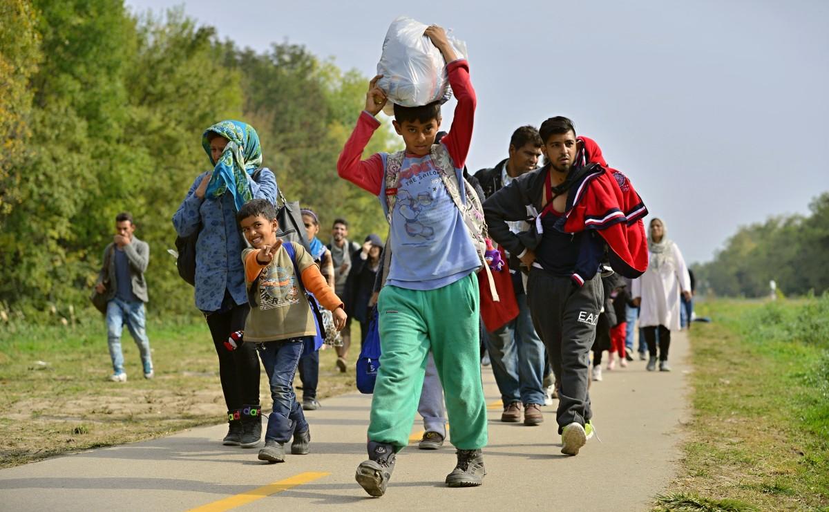 Flüchtlinge über Ungarn auf dem Weg nach Deutschland