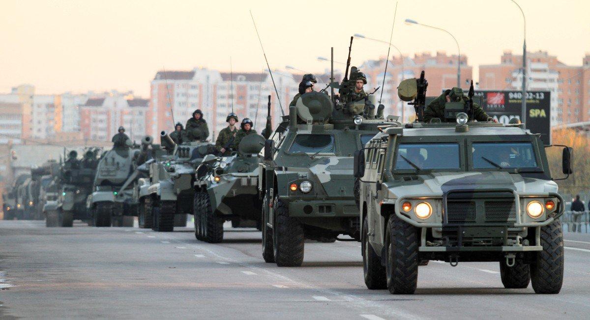 Russische Einheiten in Moskau
