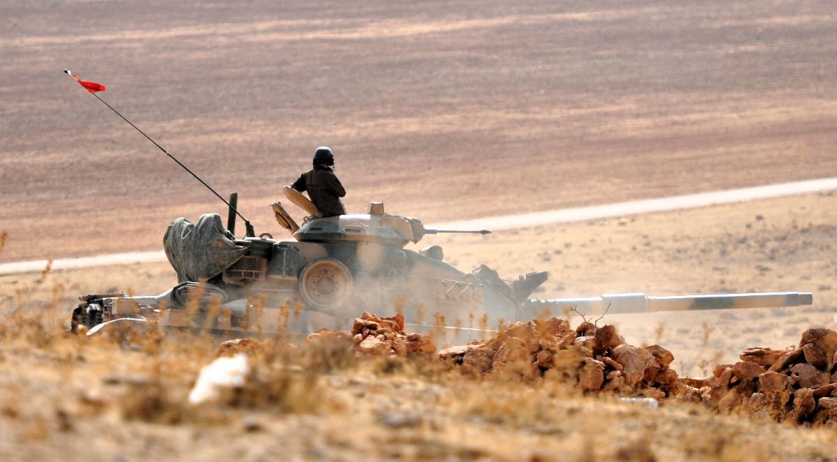 Türkische Armee an der Grenze Syrien, 2014
