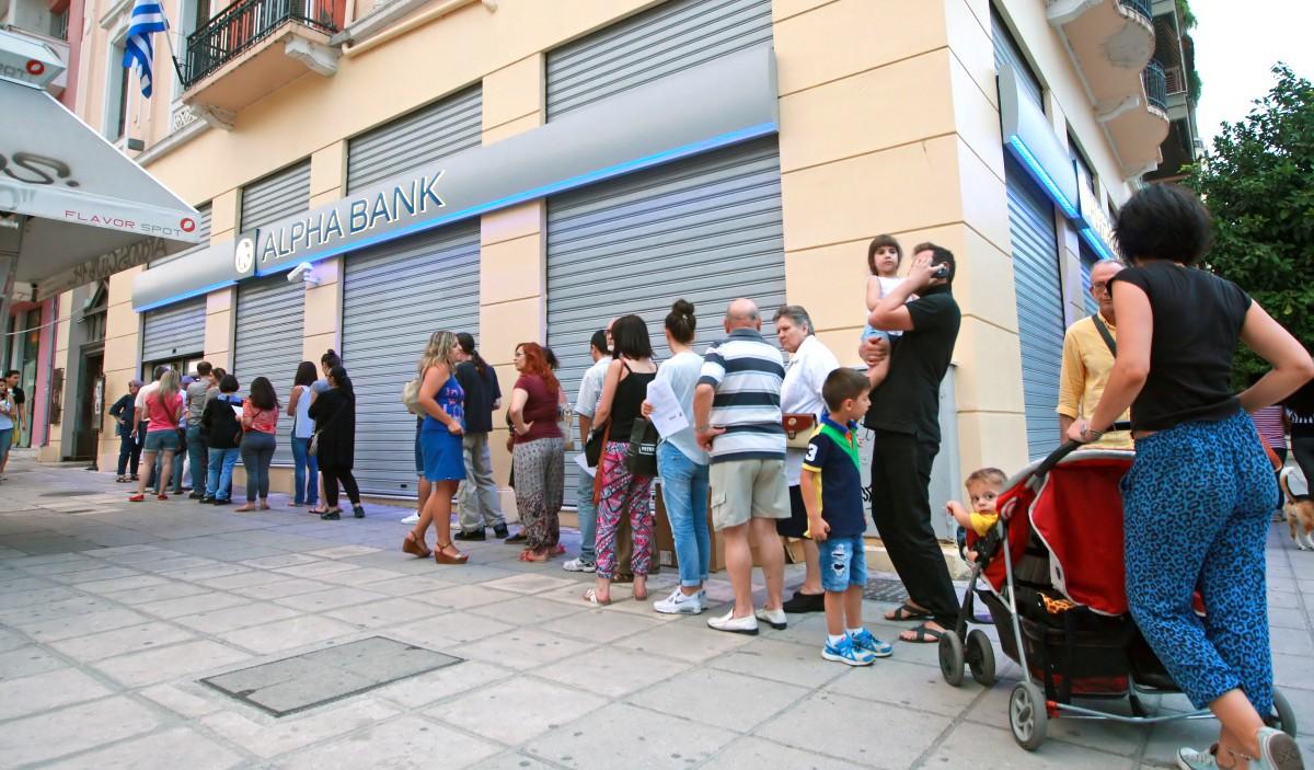 Bank Run 2015 in Griechenland