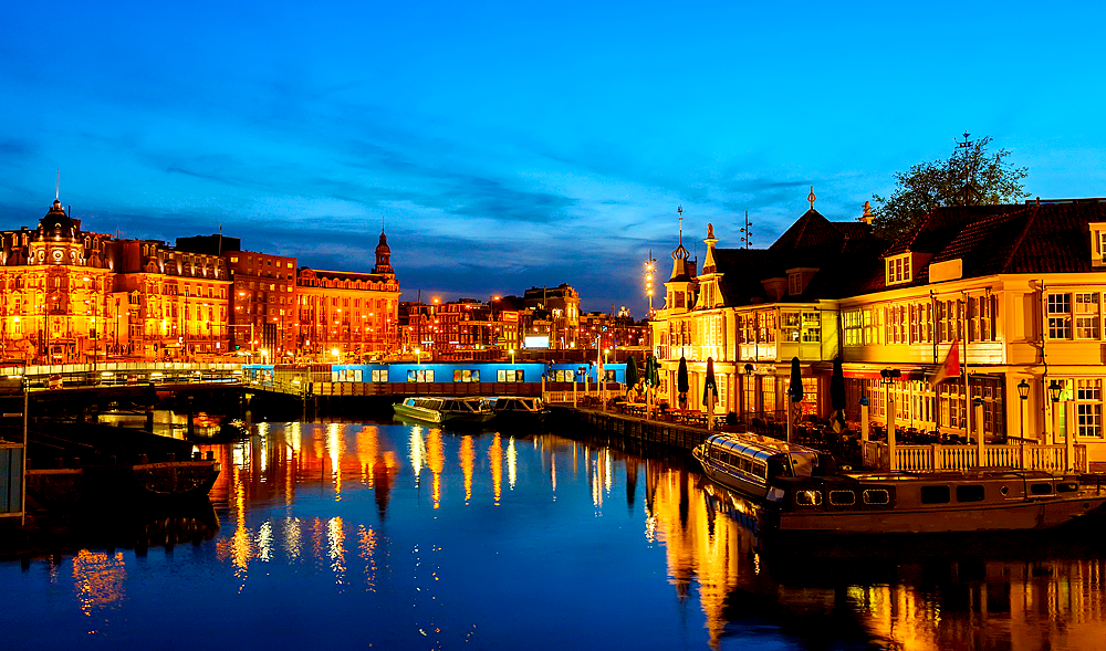 Das nächtliche Amsterdam