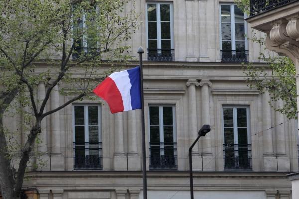 Französische Fahne, über dts Nachrichtenagentur