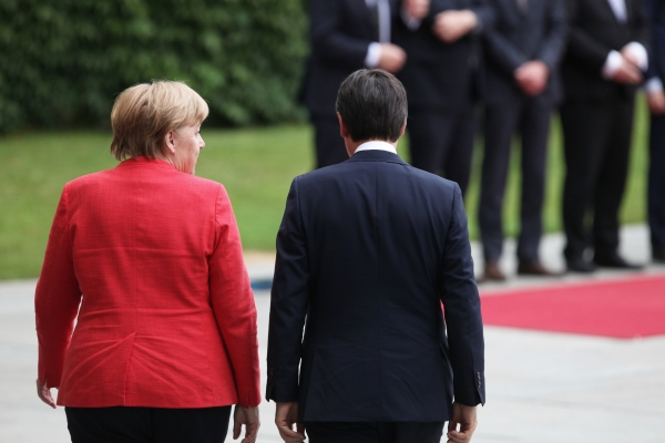 Angela Merkel und Giuseppe Conte, über dts Nachrichtenagentur