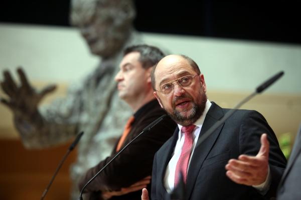 Markus Söder und Martin Schulz im Willy-Brandt-Haus, über dts Nachrichtenagentur