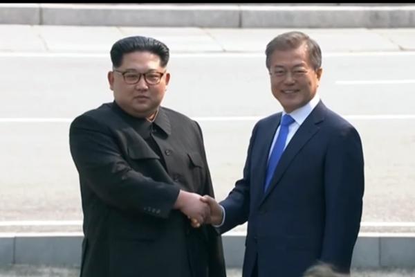 Kim und Moon am 27.04.2018, über dts Nachrichtenagentur