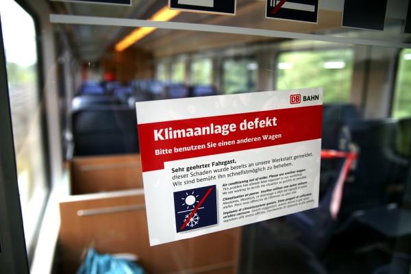 Zug mit ausgefallener Klimaanlage, über dts Nachrichtenagentur