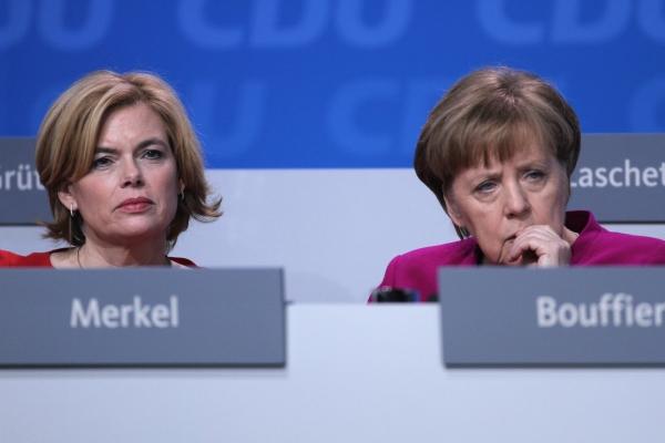 Julia Klöckner und Angela Merkel, über dts Nachrichtenagentur