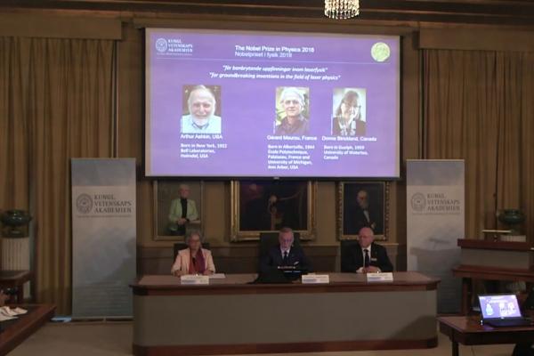 Bekanntgabe Physik-Nobelpreis am 02.10.2018, über dts Nachrichtenagentur