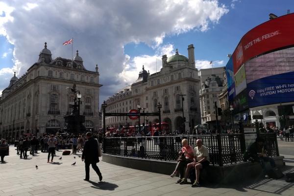Piccadilly Circus in London, über dts Nachrichtenagentur