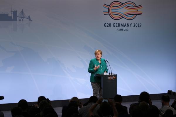 Angela Merkel auf G20-Gipfel 2017, über dts Nachrichtenagentur