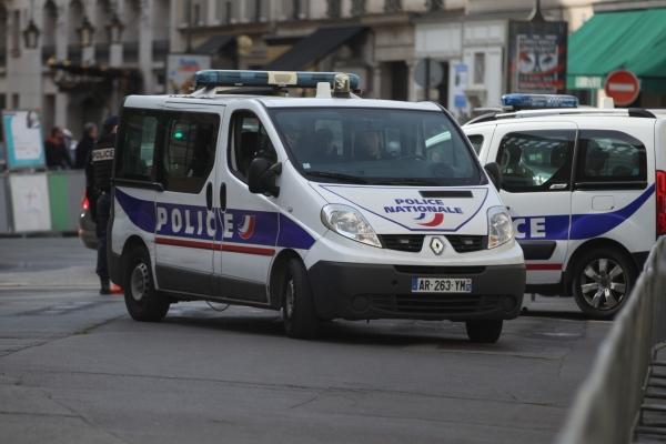 Französisches Polizeiauto, über dts Nachrichtenagentur
