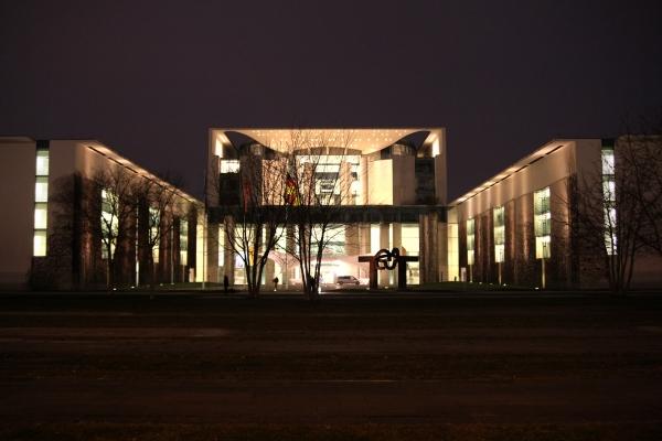 Bundeskanzleramt bei Nacht, über dts Nachrichtenagentur