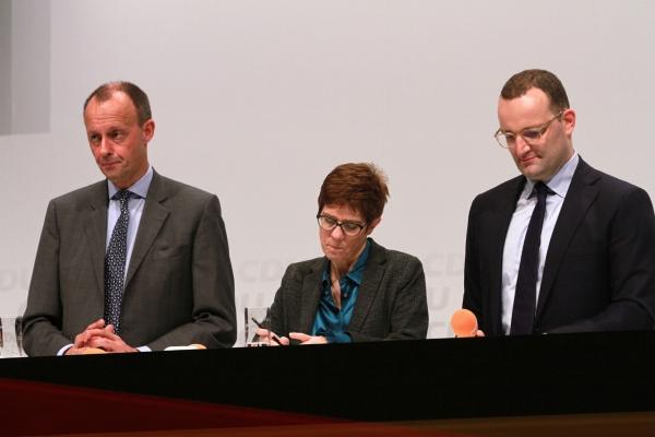 Friedrich Merz, Annegret Kramp-Karrenbauer und Jens Spahn, über dts Nachrichtenagentur