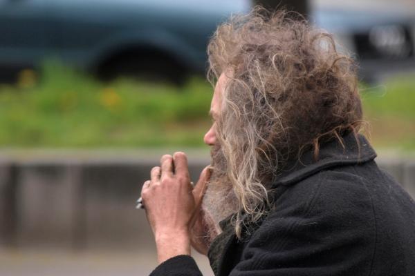 Obdachloser, über dts Nachrichtenagentur