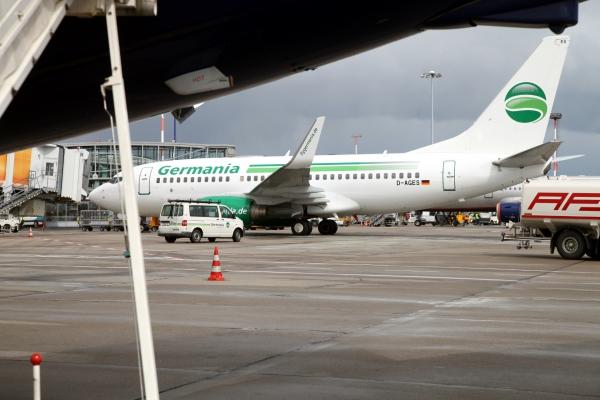 Flugzeug von Germania, über dts Nachrichtenagentur