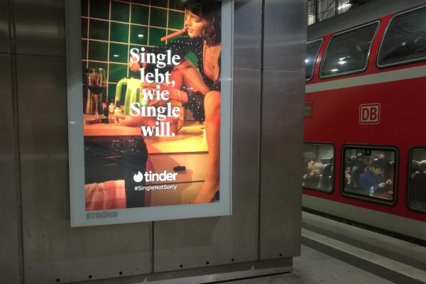 Tinder-Werbung, über dts Nachrichtenagentur