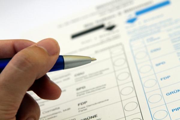 Stimmzettel für die Bundestagswahl, über dts Nachrichtenagentur