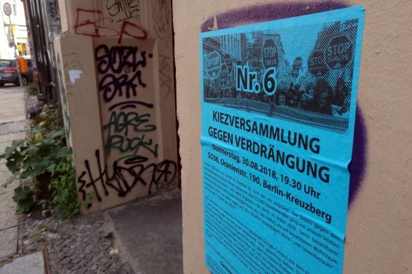 Organisierter Protest gegen Gentrifizierung, über dts Nachrichtenagentur