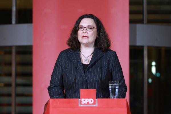Andrea Nahles, über dts Nachrichtenagentur