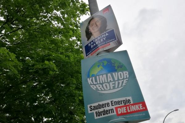 Wahlplakate zur Europawahl 2019 von SPD und Linke, über dts Nachrichtenagentur