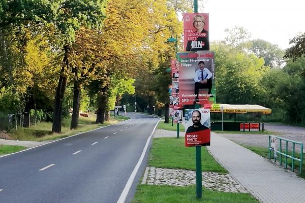 Wahlplakate vor Landtagswahl in Brandenburg, über dts Nachrichtenagentur