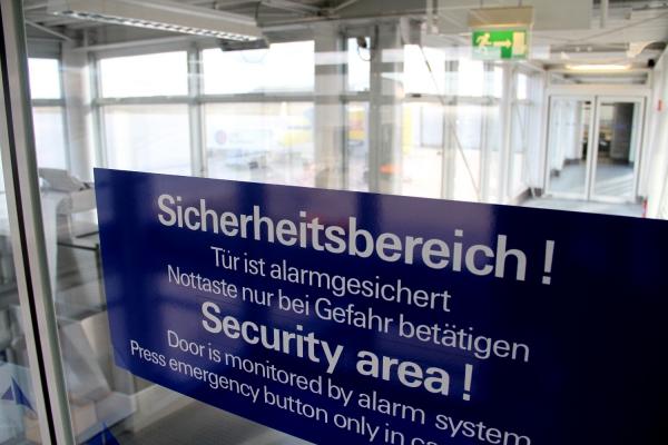 Sicherheitsbereich im Flughafen, über dts Nachrichtenagentur