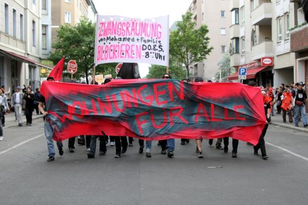 Demo gegen Mietsteigerung und Zwangsräumungen in Berlin, über dts Nachrichtenagentur