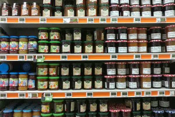 Marmelade im Supermarkt, über dts Nachrichtenagentur[/caption]