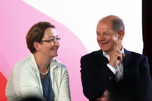 Klara Geywitz und Olaf Scholz, über dts Nachrichtenagentur