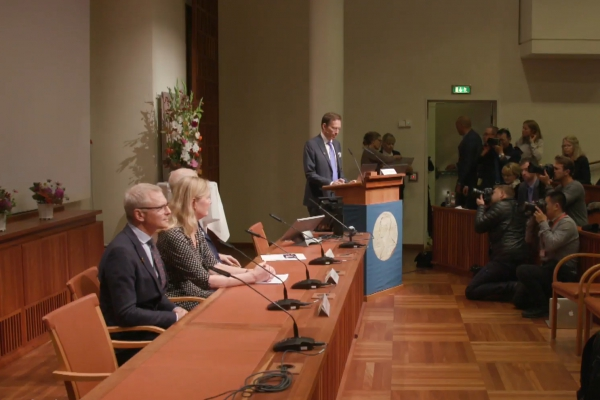 Bekanntgabe Medizin-Nobelpreis am 07.10.2019, über dts Nachrichtenagentur