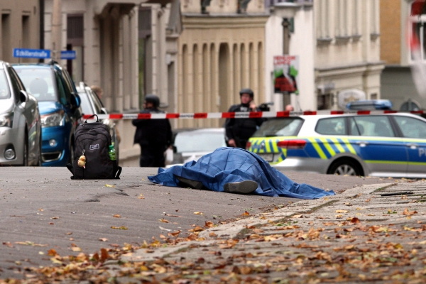 Polizeieinsatz 09.10.2019 in Halle (Saale), über dts Nachrichtenagentur[/caption]