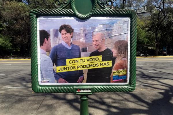 Wahlplakat in Buenos Aires 2019, über dts Nachrichtenagentur