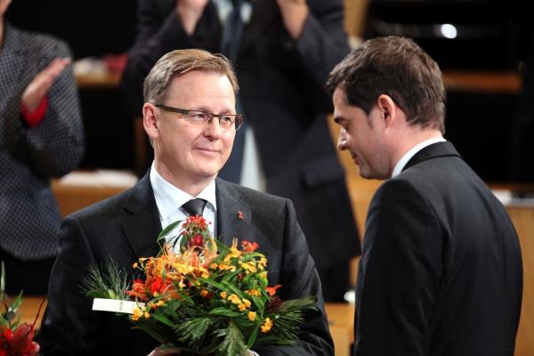 Bodo Ramelow und Mike Mohring am 05.12.2014 im Erfurter Landtag, über dts Nachrichtenagentur