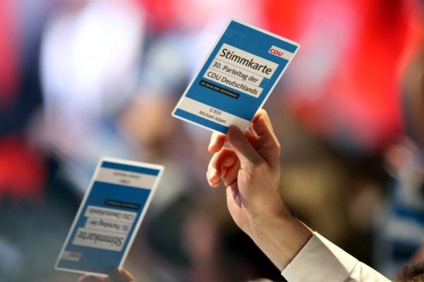 Abstimmung auf CDU-Parteitag am 26.02.2018, über dts Nachrichtenagentur