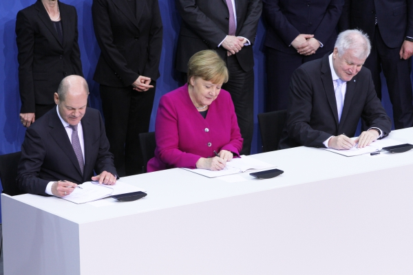 Koalitionsvertrag 2018-2021 wird unterschrieben am 12.03.2018, über dts Nachrichtenagentur