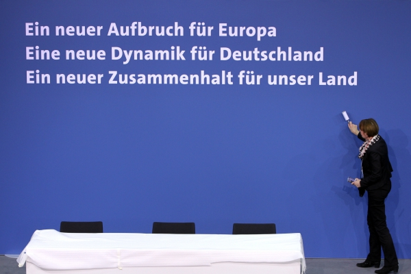 Koalitionsvertrag 2018-2021 wird unterschrieben, über dts Nachrichtenagentur