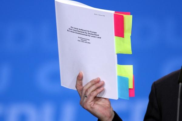 Koalitionsvertrag, über dts Nachrichtenagentur