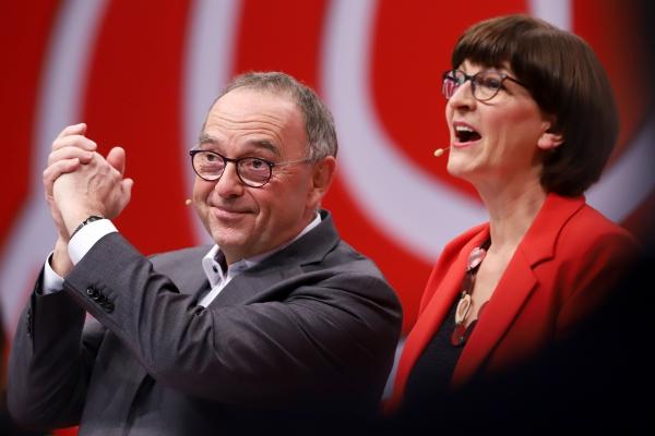 Foto: Norbert Walter-Borjans und Saskia Esken am 06.12.2019, über dts Nachrichtenagentur