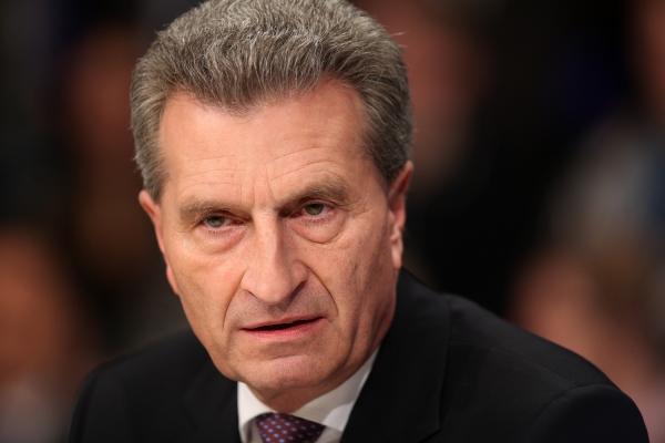 Foto: Günther Oettinger, über dts Nachrichtenagentur