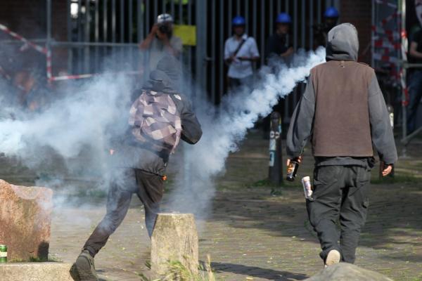 Foto: Vermummte Randalierer bei Anti-G20-Protest am 07.07.2017, über dts Nachrichtenagentur