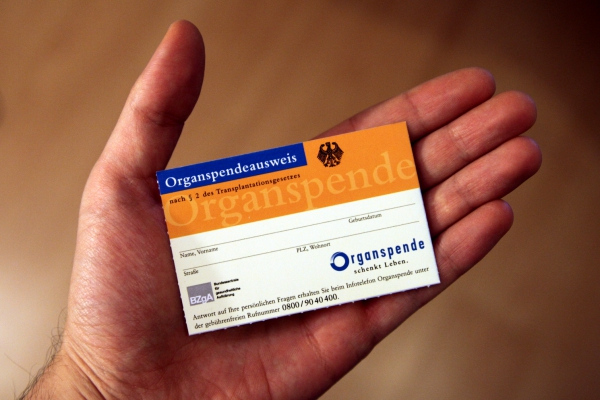 Organspendeausweis, über dts Nachrichtenagentur
