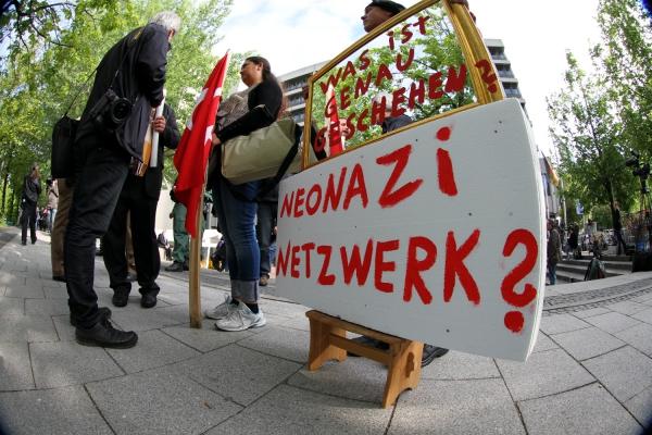 Proteste beim NSU-Prozess vor dem Strafjustizzentrum München, über dts Nachrichtenagentur