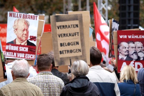 Foto: Protest von AfD-Sympathisanten, über dts Nachrichtenagentur