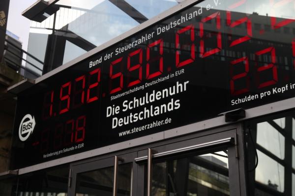 Schuldenuhr, über dts Nachrichtenagentur