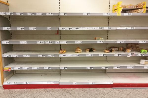 Foto: Fast ausverkauftes Brot am 14.03.2020 im Supermarkt, über dts Nachrichtenagentur