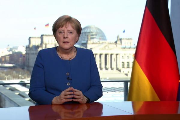 Foto: Merkels Fernsehansprache am 18.03.2020, über dts Nachrichtenagentur