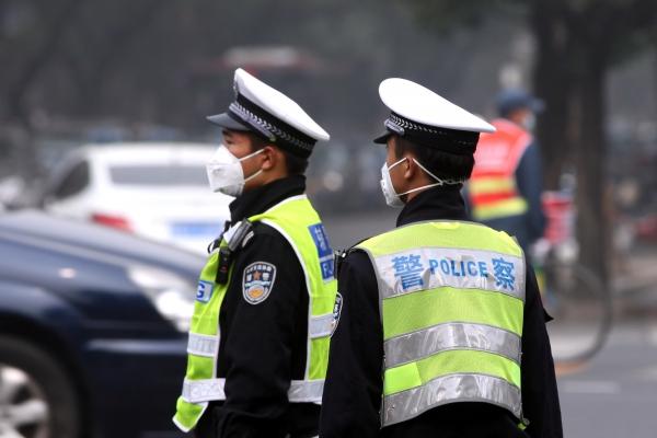 Foto: Polizisten in China, über dts Nachrichtenagentur