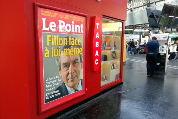 François Fillon auf einem Zeitschriftentitel, über dts Nachrichtenagentur