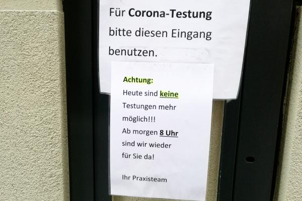 Foto: Corona-Testung, über dts Nachrichtenagentur