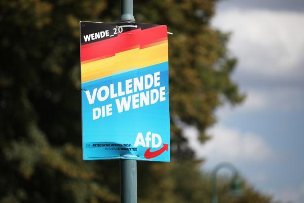 AfD-Plakat, über dts Nachrichtenagentur